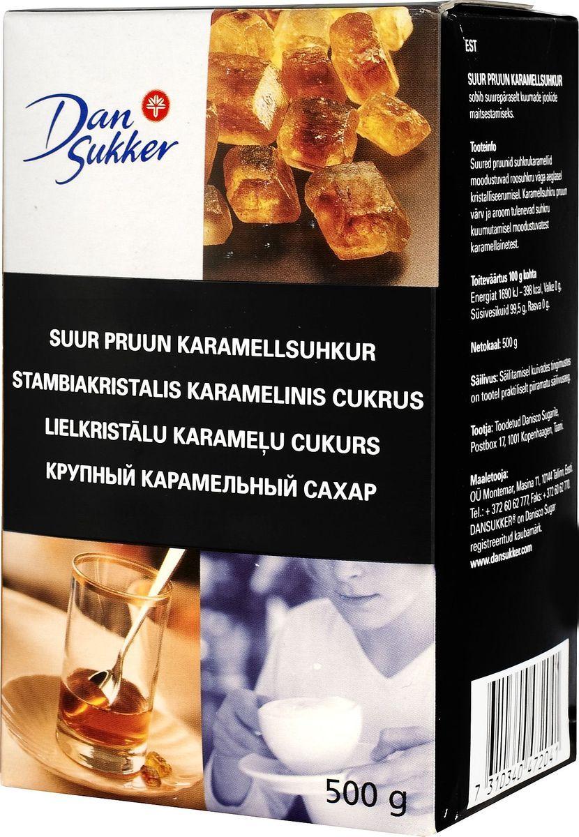 DanSukker сахар темный крупный карамельный, 500 г