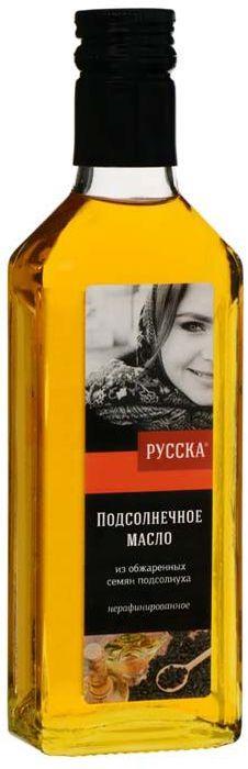 Русска масло подсолнечное из обжаренных семян подсолнуха, 250 г
