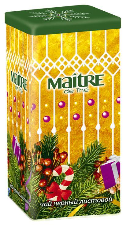 Maitre чай черный новогоднее настроение, 90 гбаж047Чай Новогоднее настроение – купаж черного крупнолистового индийского чая из четырех регионов Индии.