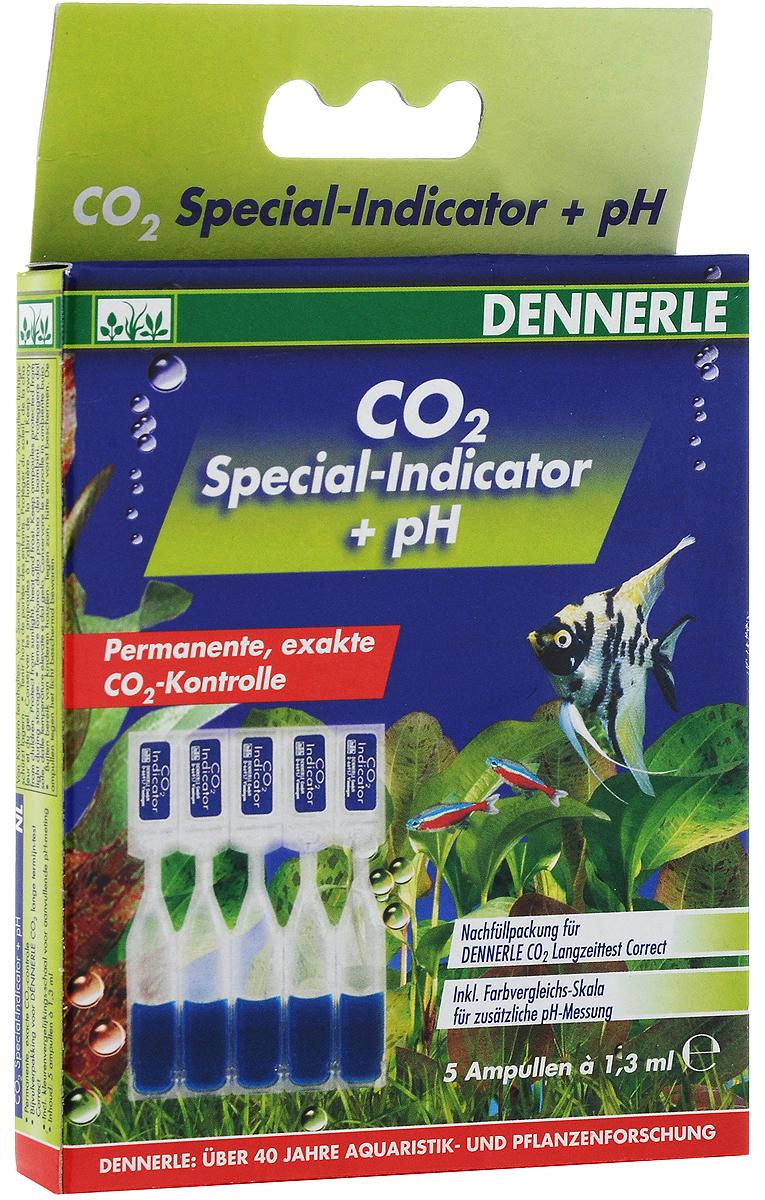 Комплект специальных индикаторных жидкостей рН Dennerle СО2, 5 ампулDEN3041Комплект Dennerle CO2 содержит 5 ампул специальной индикаторной жидкости pH по 1,3 мл, а также шестицветную сравнительную шкалу. Хватает на 5 месяцев. Принцип действия: Из аквариумной воды CO2 попадает в реакционную камеру, где он растворяется в специальном индикаторе CO2 Special-indicator. Уже через короткое время в индикаторе устанавливается такой же уровень содержания углекислого газа, как и в аквариумной воде. На уровень содержания CO2 индикатор реагирует следующим образом: синий цвет=слишком мало CO2, зеленый цвет=уровень содержания СО2 в норме, желтый цвет=слишком много СО2. Товар сертифицирован.