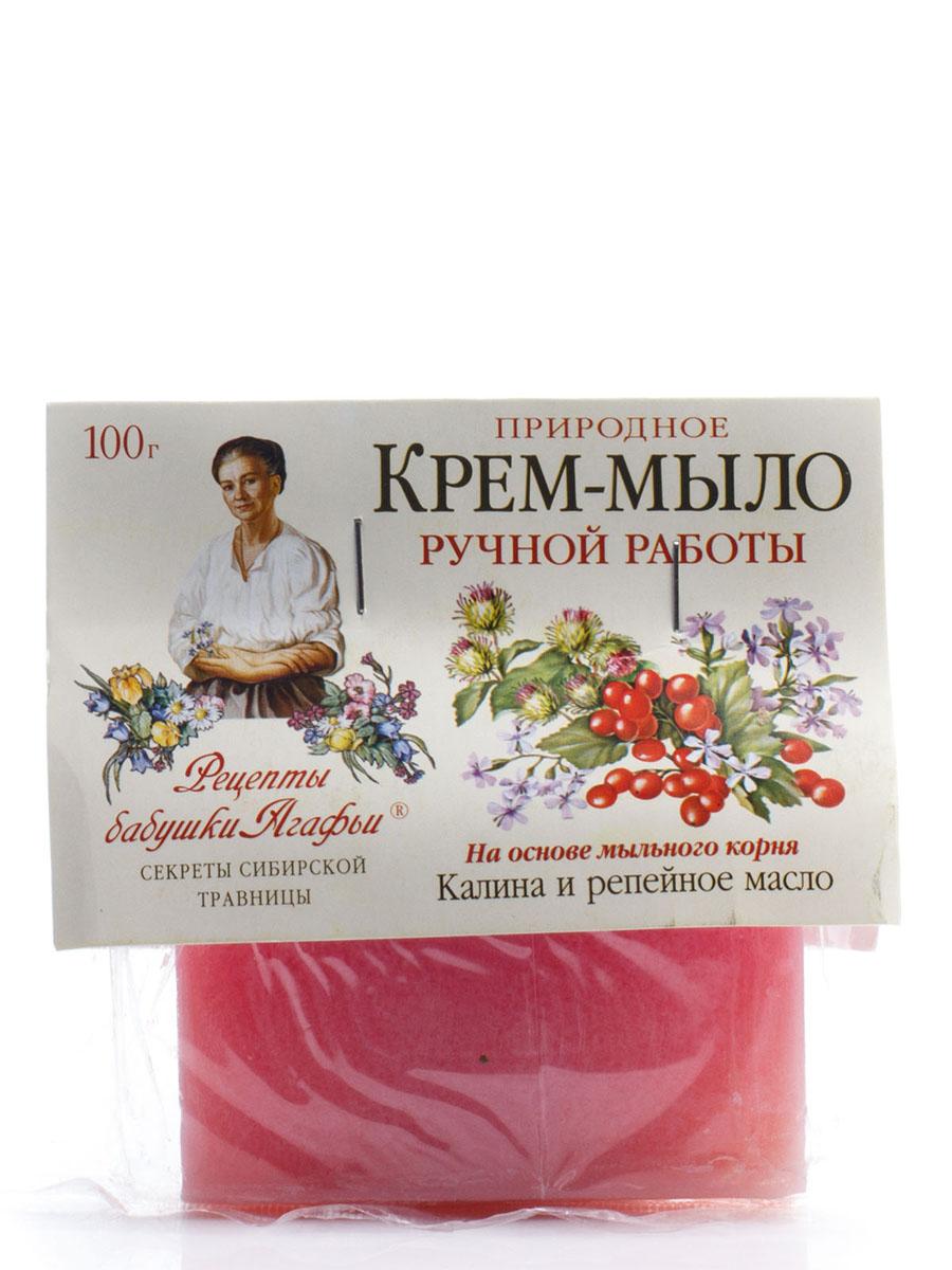 Рецепты бабушки Агафьи Мыло Калина и Репейное масло, 100 гр071-6-2627Природное крем-мыло бережно ухаживает за кожей, увлажняя, питая и восстанавливая ее упругость. Мыльный корень – это натуральная, хорошо пенящаяся основа, которая намного мягче, чем щелочная, используемая обычно. Калина стимулирует обменные процессы в коже, слегка стягивают расширенные поры. Репейное масло насыщает ее витаминами, делает более эластичной и нежной.