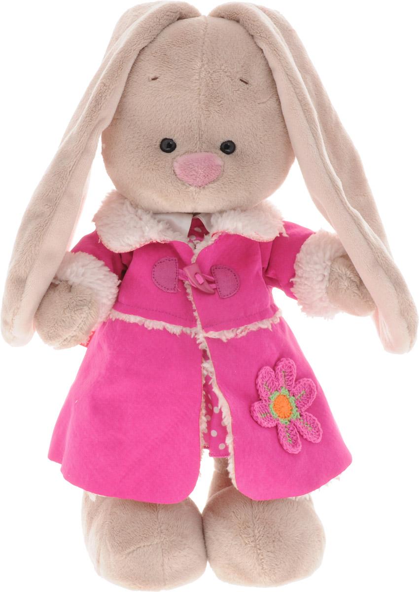 Мягкая игрушка Зайка Ми в платье и розовой дубленке 25 смSts-176Мягкая игрушка Зайка Ми подарит малышу немало прекрасных мгновений. Мягкая игрушка изготовлена на основе сказочных образов двух зайчиков. Зайки Мика и Мия похожи друг на друга, как две пуговки на одной рубашке. Поэтому все зовут их ЗайкаМи. Эти милые зайки необыкновенно творческие натуры и ни минуты не сидят без дела. Выбери своего Зайку, или собери их несколько вместе! У игрушки маленькие черные глазки, длинные мягкие ушки и симпатичный носик. Лапки уплотнены, чтобы зайчик мог самостоятельно стоять. На Зайке зимняя дубленка, ведь в зимний период - это незаменимый предмет гардероба. Она не только греет, но и создает неповторимый модный образ. Под дубленкой - розовое платье в горошек. Мягкие игрушки очень полезны для малышей, потому как весьма позитивно влияют на детскую нервную систему, прогоняя всевозможные страхи. Играя, малыш развивает фантазию и воображение, развивает тактильную чувствительность и хватательные рефлексы. Игрушка выполнена из...