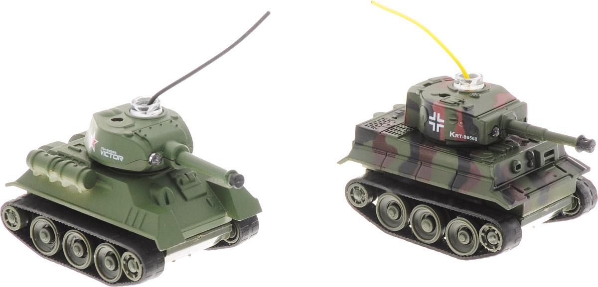 Pilotage Набор танков на радиоуправлении Танковый бой Tiger vs T34/85 цвет зеленый черный коричневый