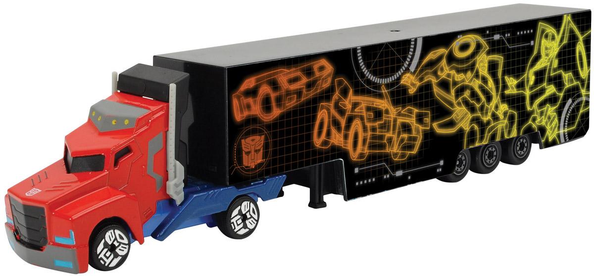 Dickie Toys Трейлер Optimus Prime цвет желтый оранжевый3113006_желтый, оранжевыйТрейлер Optimus Prime выполнен в виде грузовой машинки с длинным прицепом. Кузов прицепа оформлен оригинальным рисунком в тематике фильма Трансформеры. Колеса обладают свободным ходом. Мальчикам понравится коллекционировать такие машинки, ведь модели можно комбинировать, меняя кабины и прицепы между другими грузовиками серии. Ваш ребенок часами будет играть с машинками, придумывая различные истории и устраивая соревнования. Порадуйте его таким замечательным подарком!
