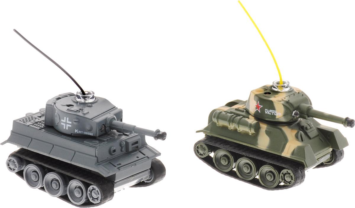 Pilotage Набор танков на радиоуправлении Танковый бой Tiger vs T34/85 цвет хаки серый 2 шт