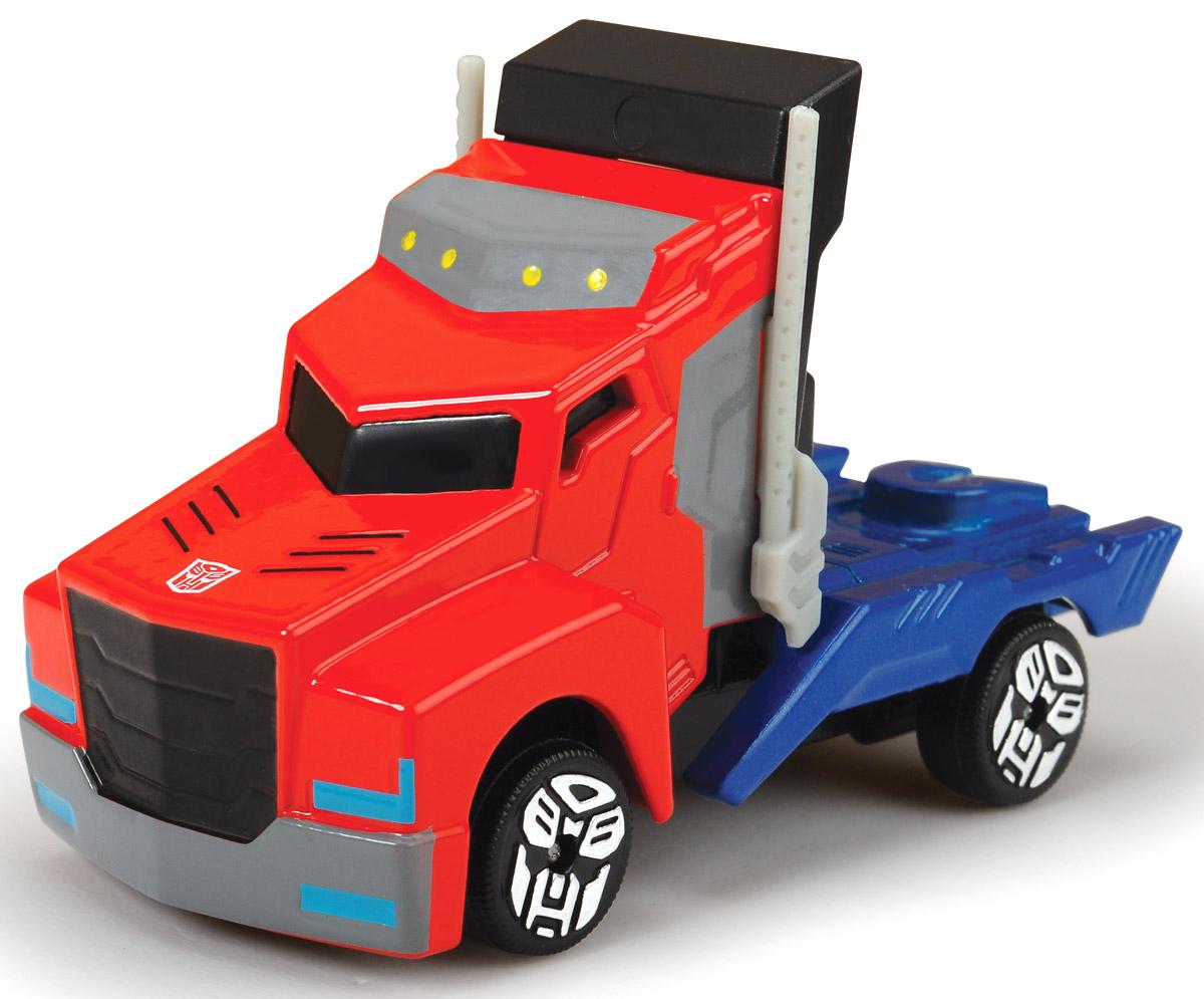 Dickie Toys Машинка Optimus Prime3111000_красный/синийТеперь в схватке с противником любимый герой мультфильма всегда будет оставаться победителем! Машинка Dickie Toys Optimus Prime выполнена из металла и пластика в виде героя мультсериала Transformers: Robots in Disguise. Колеса машинки свободно вращаются. Эта машинка будет отличным подарком всем поклонникам Трансформеров.