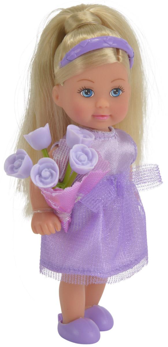 Simba Мини-кукла Еви подружка невесты цвет платья фиолетовый5732336_фиолетовыйМилая и очаровательная мини-кукла Simba Еви подружка невесты обязательно станет верной подружкой для каждой девочки. Подружка невесты одета в нарядное платье фиолетового цвета, на ногах у нее - фиолетовые туфельки. У куколки длинные светлые волосы, аккуратно убранные ободком. В руках Еви держит красивый букетик. С куклой девочка сможет придумать разнообразные сюжетно-ролевые игры и сценки. Благодаря играм с куклой, ваша малышка сможет развить фантазию и любознательность, овладеть навыками общения и научиться ответственности. Порадуйте свою принцессу таким прекрасным подарком!