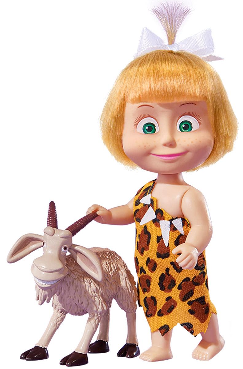 Simba Мини-кукла Маша с козой9302117_с козой, 109302117029Мини-кукла Маша с козой непременно понравится вашей малышке и надолго займет ее внимание. Игрушка выполнена из безопасного материала в виде персонажа Маши из мультсериала Маша и Медведь. Маша оказалась в каменном веке. Она одета в леопардовое платье и гуляет по лесу босиком. В комплекте с куколкой имеется фигурка рогатой козы. Ручки, ножки и голова у Маши подвижны. Оригинальный стиль и великолепное качество исполнения делают эту игрушку чудесным подарком к любому празднику, а жизнерадостный образ представит такой подарок в самом лучшем свете.