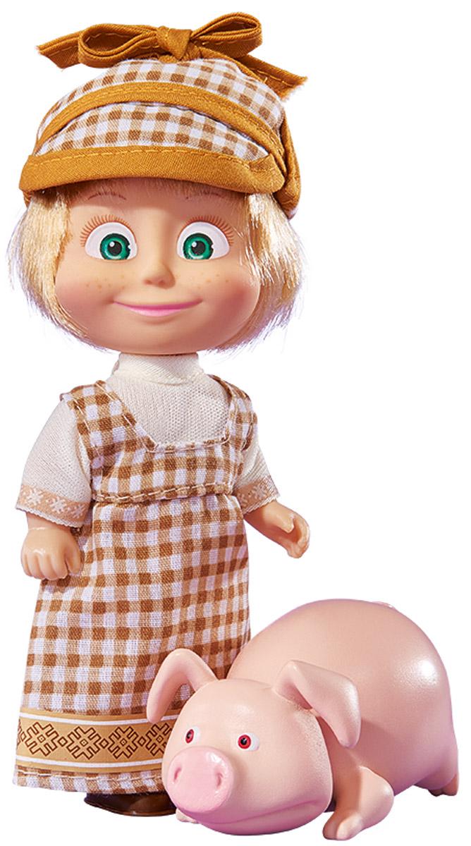 Simba Мини-кукла Маша со свинкой9302117_со свинкой, 109302117029Мини-кукла Маша со свинкой непременно понравится вашей малышке и надолго займет ее внимание. Игрушка выполнена из безопасного материала в виде персонажа Маши из мультсериала Маша и Медведь. Маша ухаживает за животными на ферме. Она в длинном клетчатом сарафанчике и удобной кепке. На ножках - коричневые туфельки. В комплекте с куколкой имеется фигурка свинки. Ручки, ножки и голова у Маши подвижны. Оригинальный стиль и великолепное качество исполнения делают эту игрушку чудесным подарком к любому празднику, а жизнерадостный образ представит такой подарок в самом лучшем свете.