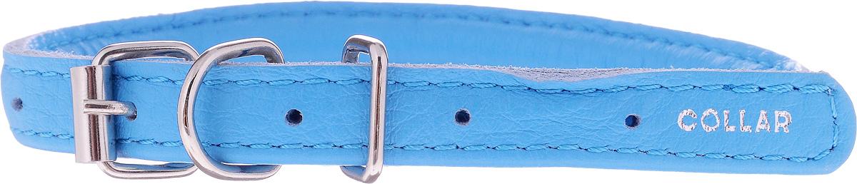Ошейник для собак CoLLaR Glamour, цвет: голубой, диаметр 8 мм, обхват шеи 25-33 см22412Ошейник для собак CoLLaR Glamour, выполненный из натуральной кожи, устойчив к влажности и перепадам температур. Крепкие металлические элементы делают ошейник надежным и долговечным. Изделие отличается высоким качеством, удобством и универсальностью. Размер ошейника регулируется при помощи пряжки, зафиксированной на одном из 5 отверстий. Минимальный обхват шеи: 25 см. Максимальный обхват шеи: 33 см. Диаметр ошейника: 8 мм.