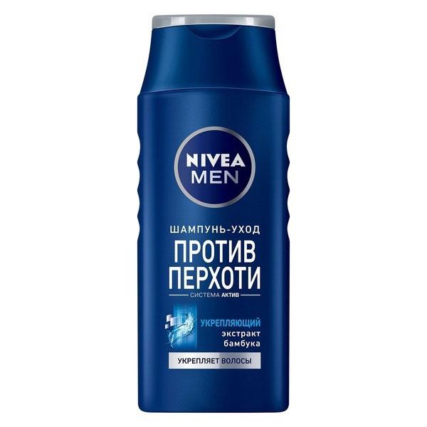 NIVEA Шампунь против перхоти «Укрепляющий» 400 мл100385575Шампунь Nivea for Men Power с экстрактом бамбука эффективно устраняет и предотвращает перхоть. Мягко ухаживает за волосами и кожей головы. Заметно укрепляет волосы. Волосы становятся сильными и здоровыми. Подходит для ежедневного применения. Характеристики: Объем: 400 мл. Производитель: Россия. Артикул: 81541. Товар сертифицирован.