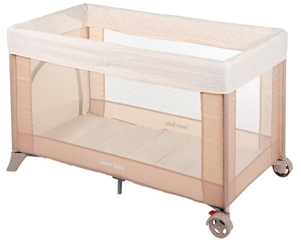 Sweet Baby Манеж-кровать Mantellina PescaMantellina PescaКомпактный в сложенном виде ,легко раскладывается, жесткое дно. Мягкий матрас в комплекте. Съёмный мягкий бортик-накидка по краям.2 колесика для удобного перемещения, дополнительная подставка в центре. Удобный лаз на молнии.+ москитная сетка.Можно использовать матрас Sweet Baby Вес 9 кг Размер: 120х60х76