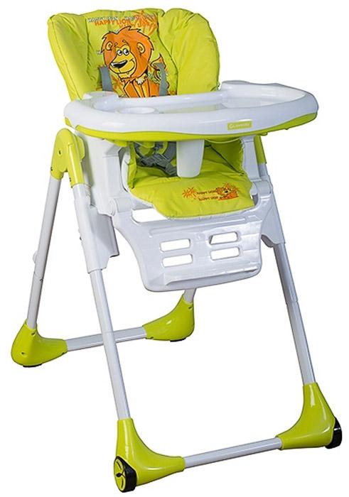 Glamvers Стульчик для кормления Luxys цвет зеленый4780201379636Функциональный стульчик Luxys с ярким дизайном. Многофункциональный, удобный, компактный стульчик для малышей от 0 месяцев до 3 лет. Характеристики: угол наклона спинки регулируемый в трех положениях пятиточечные ремни безопасности регулируется по высоте регулируемая подножка в трех положениях съемная двойная столешница со встроенной анатомической вставкой легко моющийся материал есть колесики для удобства перемещения компактно складывается Стульчик для кормления изготовлен в соответствии с Европейским стандартом безопасности, обеспечивая максимальную безопасность и комфорт для вашего ребенка.