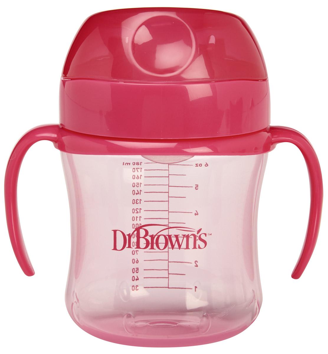 Dr.Browns Поильник-непроливайка от 6 месяцев цвет розовый 180 млTC61003