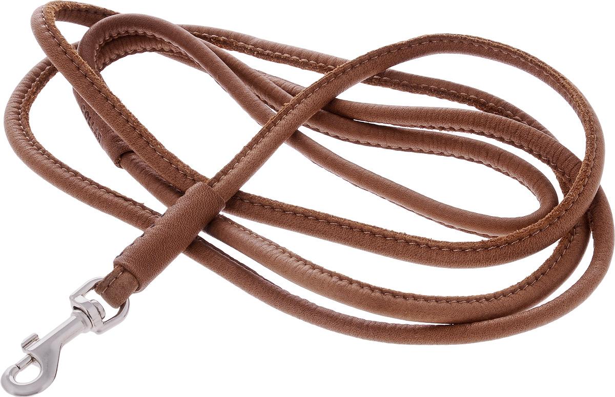 Поводок для собак CoLLaR SOFT, цвет: коричневый, диаметр 6 мм, длина 1,83 м73496Поводок для собак CoLLaR SOFT изготовлен из натуральной кожи и снабжен металлическим карабином. Поводок отличается не только исключительной надежностью и удобством, но и ярким дизайном. Он идеально подойдет для активных собак, для прогулок на природе и охоты. Поводок - необходимый аксессуар для собаки. Ведь в опасных ситуациях именно он способен спасти жизнь вашему любимому питомцу. Длина поводка: 1,83 м. Диаметр поводка: 6 мм.