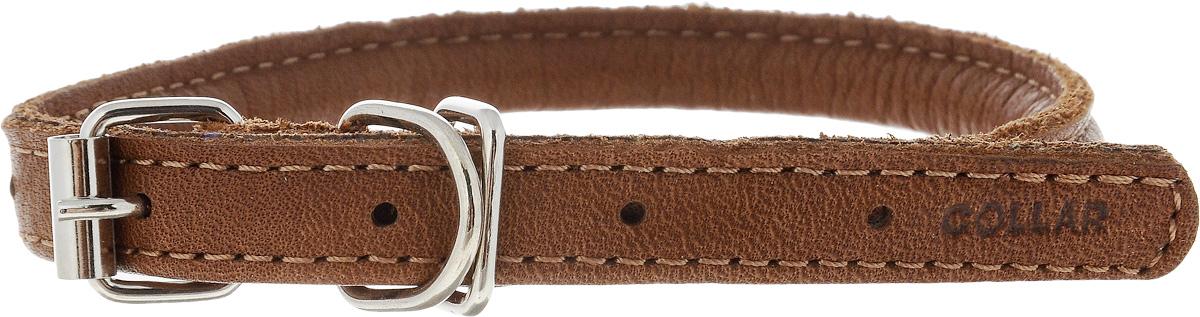 Ошейник для собак CoLLaR SOFT, цвет: коричневый, диаметр 8 мм, обхват шеи 25-33 см22326Ошейник для собак CoLLaR SOFT, выполненный из натуральной кожи, устойчив к влажности и перепадам температур. Крепкие металлические элементы делают ошейник надежным и долговечным. Изделие отличается высоким качеством, удобством и универсальностью. Размер ошейника регулируется при помощи пряжки, зафиксированной на одном из 5 отверстий. Минимальный обхват шеи: 25 см. Максимальный обхват шеи: 33 см. Диаметр ошейника: 8 мм.