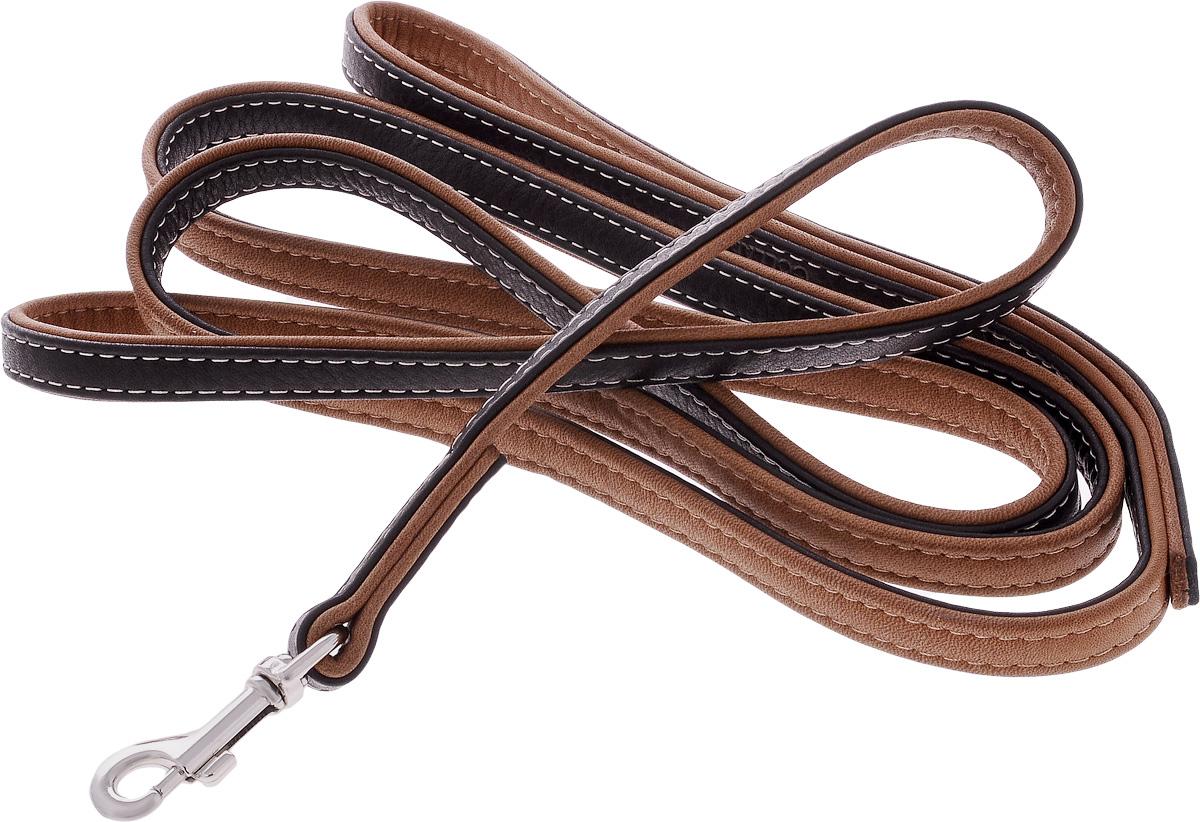 Поводок для собак CoLLaR SOFT, цвет: черный, коричневый, ширина 1,3 см, длина 1,83 м2215Поводок для собак CoLLaR SOFT с черным верхом изготовлен из натуральной кожи и снабжен металлическим карабином. Поводок отличается не только исключительной надежностью и удобством, но и оригинальным дизайном. Он идеально подойдет для активных собак, для прогулок на природе и охоты. Поводок - необходимый аксессуар для собаки. Ведь в опасных ситуациях именно он способен спасти жизнь вашему любимому питомцу. Ширина поводка: 1,3 см. Длина поводка: 1,83 м.