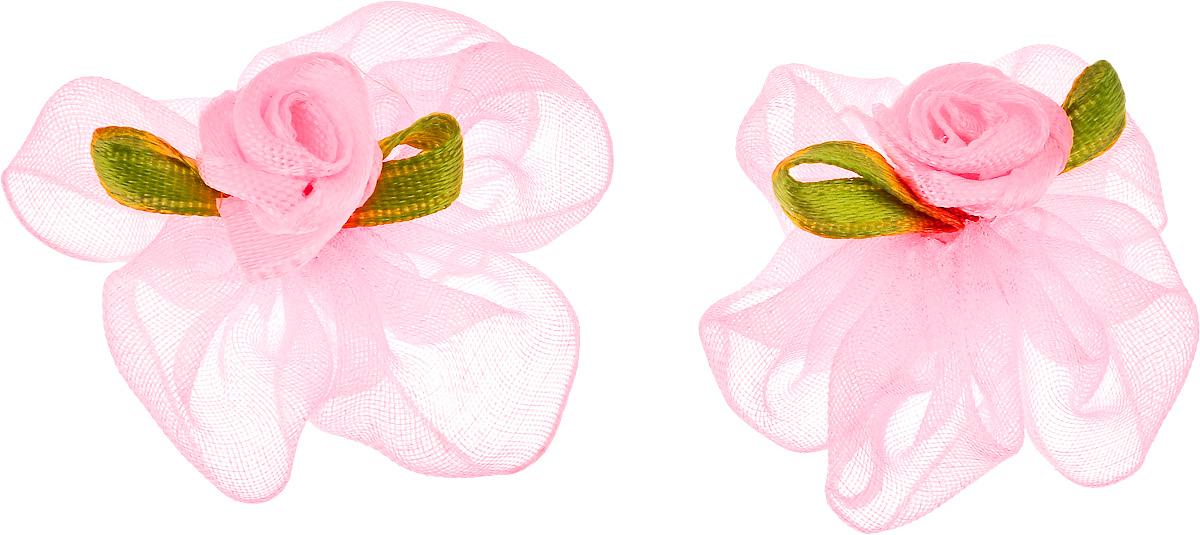 Резинка для животных Каскад Цветок, цвет: розовый, зеленый, диаметр 3 см, 2 шт48302317_розовыйРезинка для животных Каскад Цветок - это красивое и стильное украшение для собак мелких пород и других животных. Изделия выполнены из тканей различных структур, плотности и фактуры и латексной резинки. Диаметр: 3 см.