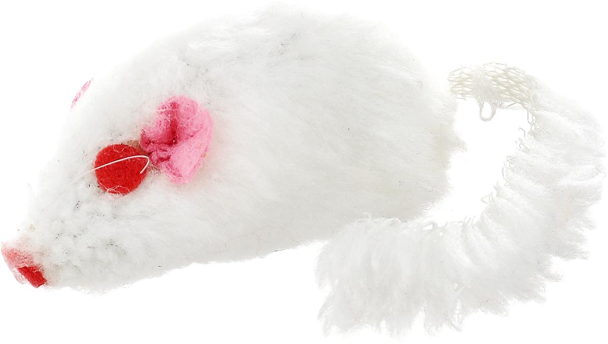 Игрушка для кошек Каскад Мышь, с коротким мехом, цвет: белый, длина 12,5 см27754633_белыйИгрушка для кошек Каскад Мышь изготовлена из искусственного меха и пластика. Такая игрушка порадует вашего любимца, а вам доставит массу приятных эмоций, ведь наблюдать за игрой всегда интересно и приятно. Общая длина игрушки: 12,5 см.