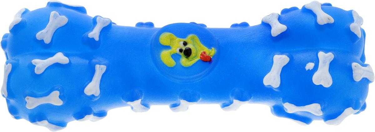 Игрушка для животных Каскад Косточка, с пищалкой, цвет: синий, белый, желтый, длина 16 см27799279_синий, белый, желтыйИгрушка Каскад Косточка изготовлена из прочной и долговечной резины, которая устойчива к разгрызанию. Необычная и забавная игрушка прекрасно подойдет для собак, любящих игрушки с пищалками. Размер: 16 х 5 х 3 см.
