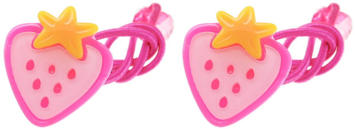 Резинка для волос Fashion House, цвет: розовый, желтый, 2 шт. FH28816FH28816Яркая резинка для волос Fashion House выполнена из текстиля и дополнена пластиковым декоративным элементом в виде клубники, оформленной вставками.