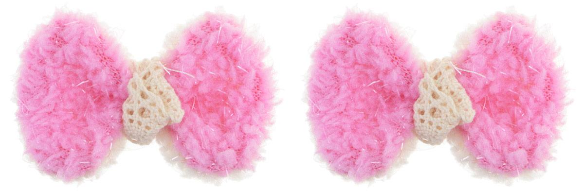 Зажим для волос Fashion House, цвет: розовый, 2 шт. FH28116FH28116Зажим для волос Fashion House изготовлен из металла и декоративным элементом из текстиля, выполненным в виде бантика. Зажим надежно зафиксирует волосы и завершит образ.