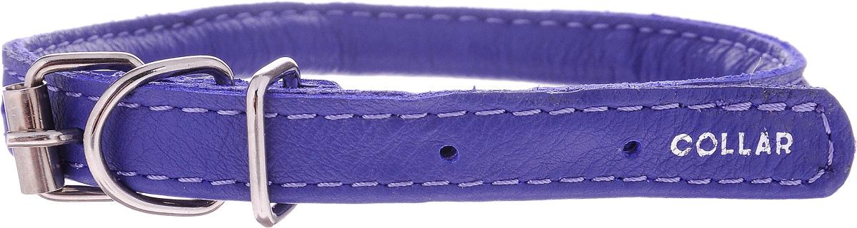 Ошейник для собак CoLLaR Glamour, цвет: фиолетовый, диаметр 6 мм, обхват шеи 25-33 см22419Ошейник для собак CoLLaR Glamour, выполненный из натуральной кожи, устойчив к влажности и перепадам температур. Крепкие металлические элементы делают ошейник надежным и долговечным. Изделие отличается высоким качеством, удобством и универсальностью. Размер ошейника регулируется при помощи пряжки, зафиксированной на одном из 5 отверстий. Минимальный обхват шеи: 25 см. Максимальный обхват шеи: 33 см. Диаметр ошейника: 6 мм.