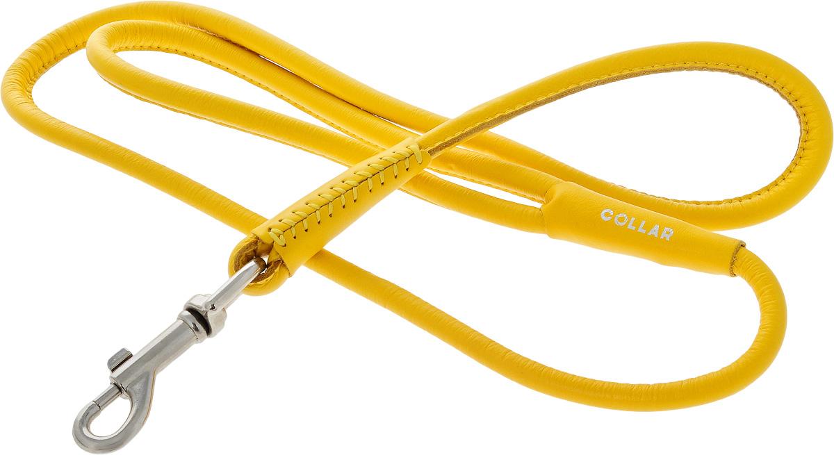 Поводок для собак CoLLaR Glamour, цвет: желтый, диаметр 1 см, длина 1,22 м33788Поводок для собак CoLLaR Glamour изготовлен из натуральной кожи и снабжен металлическим карабином. Поводок отличается не только исключительной надежностью и удобством, но и ярким дизайном. Он идеально подойдет для активных собак, для прогулок на природе и охоты. Поводок - необходимый аксессуар для собаки. Ведь в опасных ситуациях именно он способен спасти жизнь вашему любимому питомцу. Длина поводка: 1,22 м. Диаметр поводка: 1 см.