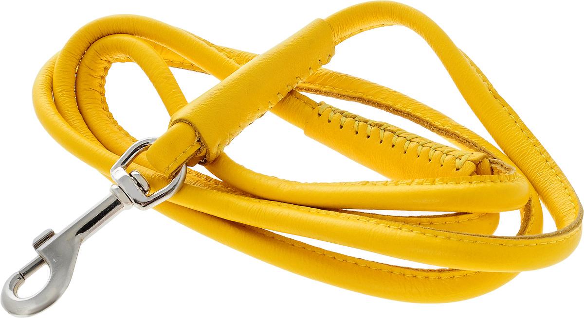Поводок для собак CoLLaR Glamour, цвет: желтый, диаметр 8 мм, длина 1,22 м33778Поводок для собак CoLLaR Glamour изготовлен из натуральной кожи и снабжен металлическим карабином. Поводок отличается не только исключительной надежностью и удобством, но и ярким дизайном. Он идеально подойдет для активных собак, для прогулок на природе и охоты. Поводок - необходимый аксессуар для собаки. Ведь в опасных ситуациях именно он способен спасти жизнь вашему любимому питомцу. Длина поводка: 1,22 м. Диаметр поводка: 8 мм.