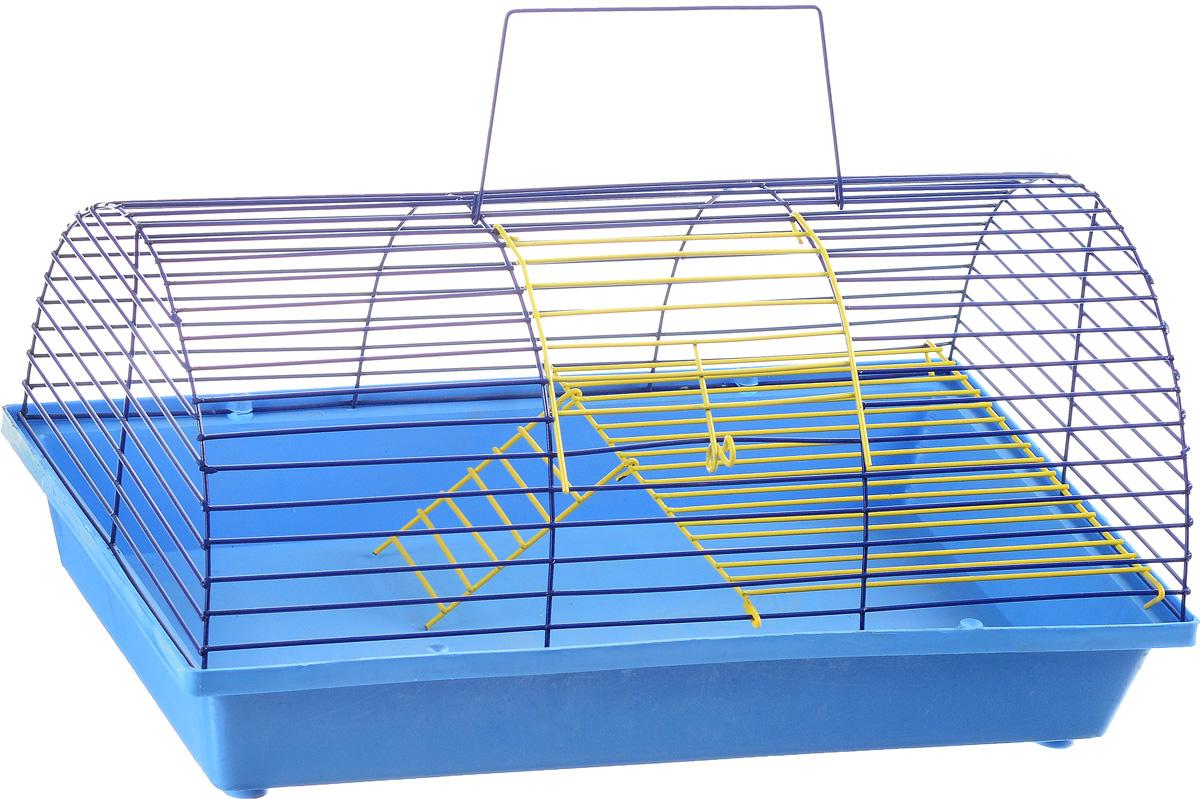 Клетка для грызунов ЗооМарк, цвет: голубой поддон, синяя решетка, 36 х 23 х 17,5 см. 110ж110ж_голубой, синийКлетка ЗооМарк, выполненная из полипропилена и металла, подходит для грызунов. Она имеет яркий поддон, удобна в использовании и легко чистится. Клетка оснащена вторым ярусом с лесенкой, выполненных из металла. Такая клетка станет уединенным пространством и уютным домиком для маленького грызуна.