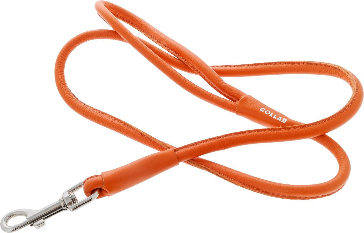 Поводок для собак CoLLaR Glamour, цвет: оранжевый, диаметр 1 см, длина 1,22 м33784Поводок для собак CoLLaR Glamour изготовлен из натуральной кожи и снабжен металлическим карабином. Поводок отличается не только исключительной надежностью и удобством, но и ярким дизайном. Он идеально подойдет для активных собак, для прогулок на природе и охоты. Поводок - необходимый аксессуар для собаки. Ведь в опасных ситуациях именно он способен спасти жизнь вашему любимому питомцу. Длина поводка: 1,22 м. Диаметр поводка: 1 см.