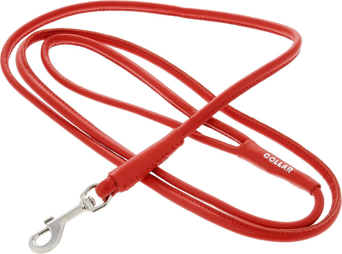 Поводок для собак CoLLaR Glamour, цвет: красный, диаметр 8 мм, длина 1,83 м34393Поводок для собак CoLLaR Glamour изготовлен из натуральной кожи и снабжен металлическим карабином. Поводок отличается не только исключительной надежностью и удобством, но и ярким дизайном. Он идеально подойдет для активных собак, для прогулок на природе и охоты. Поводок - необходимый аксессуар для собаки. Ведь в опасных ситуациях именно он способен спасти жизнь вашему любимому питомцу. Длина поводка: 1,83 м. Диаметр поводка: 8 мм.