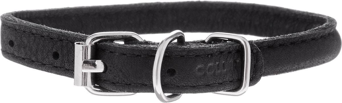 Ошейник для собак CoLLaR SOFT, цвет: черный, диаметр 0,8 см, обхват шеи 20-25 см22311Ошейник CoLLaR SOFT изготовлен из кожи, устойчивой к влажности и перепадам температур. Ошейник идеально подойдет для длинношерстных пород собак. Клеевой слой, сверхпрочные нити, крепкие металлические элементы делают ошейник надежным и долговечным. Изделие отличается высоким качеством, удобством и универсальностью. Размер ошейника регулируется при помощи металлической пряжки. Имеется металлическое кольцо для крепления поводка. Ваша собака тоже хочет выглядеть стильно! Модный ошейник с уплотнением по всей длине не только не будет натирать шею вашему любимцу, но и станет для питомца отличным украшением и выделит его среди остальных животных. Минимальный обхват шеи: 20 см. Максимальный обхват шеи: 25 см. Диаметр: 0,8 см.