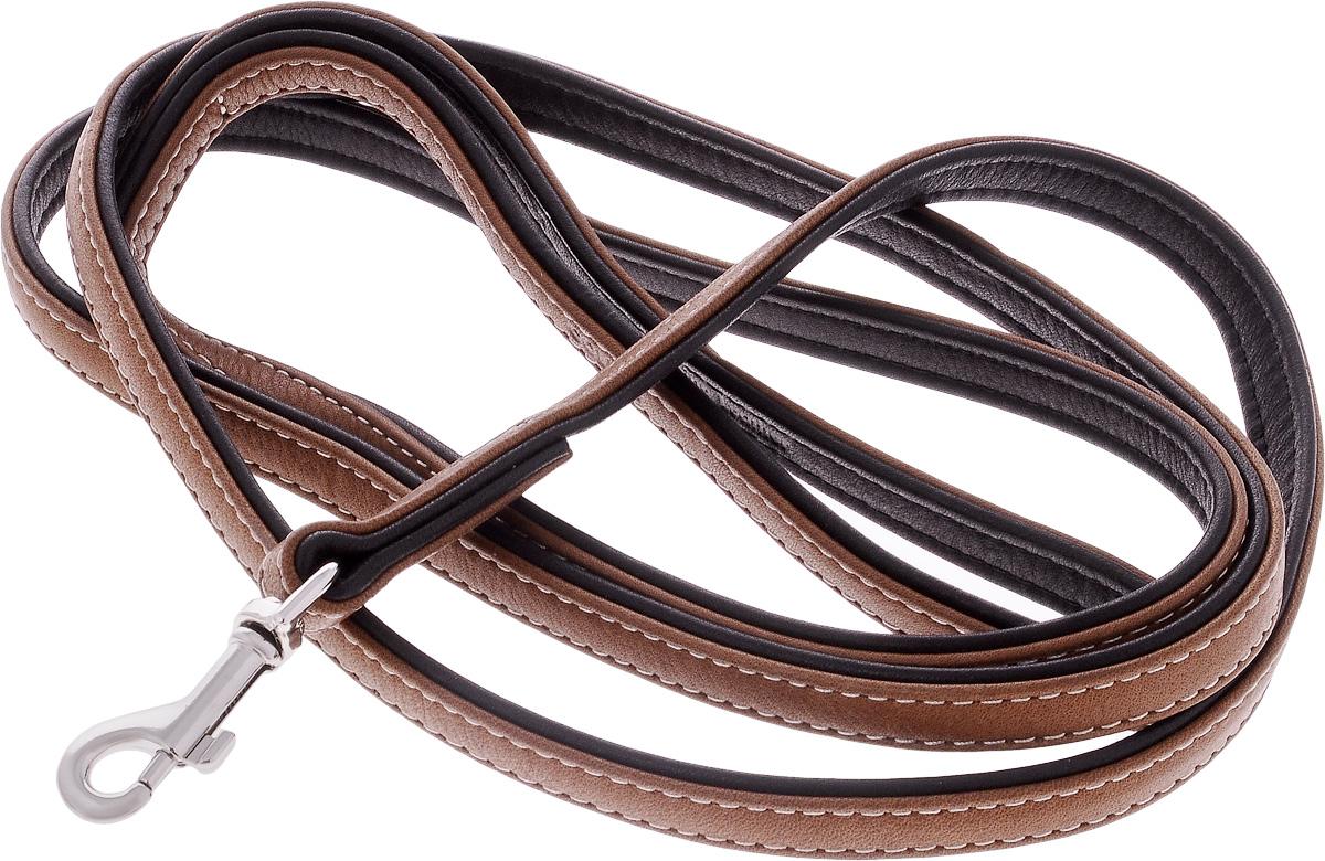 Поводок для собак CoLLaR SOFT, цвет: коричневый, черный, ширина 1,3 см, длина 1,83 м2184Поводок для собак CoLLaR SOFT с коричневым верхом изготовлен из натуральной кожи и снабжен металлическим карабином. Поводок отличается не только исключительной надежностью и удобством, но и оригинальным дизайном. Он идеально подойдет для активных собак, для прогулок на природе и охоты. Поводок - необходимый аксессуар для собаки. Ведь в опасных ситуациях именно он способен спасти жизнь вашему любимому питомцу. Ширина поводка: 1,3 см. Длина поводка: 1,83 м.
