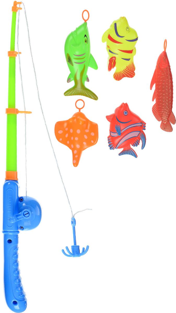 Играем вместе Игрушка для ванной Рыбалка Маша и Медведь цвет удочки салатовый синийB1308748-RИгрушка для ванной Играем вместе Рыбалка. Маша и Медведь - вот это настоящая забава. Половить рыбку вместе с любимыми героями! Теперь процесс купания станет для ребенка еще интереснее: ведь он с Машей и Медведем из полюбившегося всем мультфильма едет на рыбалку. Используя специальную удочку с леской, на конце которого располагается крючок, необходимо поймать больше и быстрее всех ярких представителей подводной жизни. В комплекте вы найдете одну удочку и пять разноцветных рыбок. Игра отлично подходит для развития мелкой моторики.