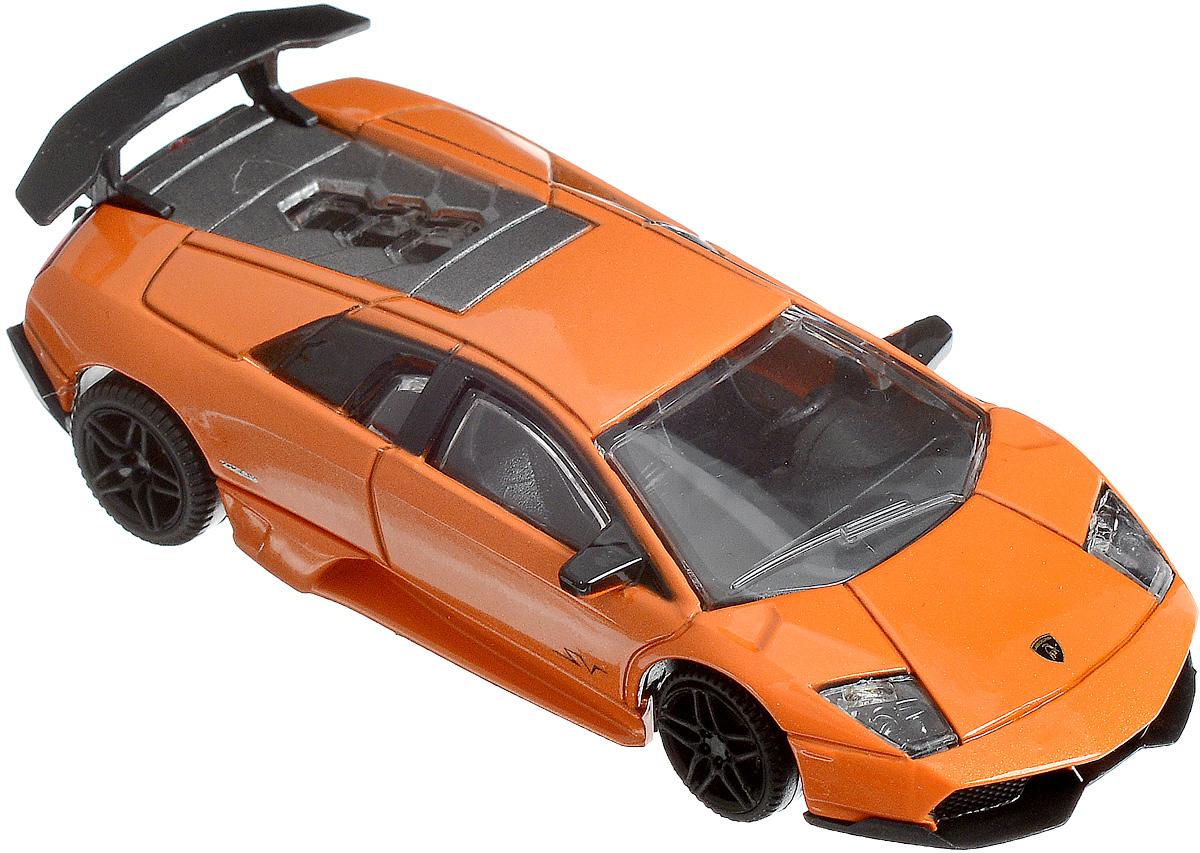 Rastar Модель автомобиля Lamborghini Murcielago LP 670-4 SV цвет оранжевый масштаб 1:4339500_оранжевыйМодель автомобиля Rastar Lamborghini Murcielago LP 670-4 SV привлечет внимание, как ребенка, так и взрослого коллекционера. Машинка является точной уменьшенной копией настоящего автомобиля в масштабе 1:43. Модель выполнена из металла с использованием пластика и оснащена резиновыми колесами, обеспечивающими хорошее сцепление с любой поверхностью пола. Модель автомобиля Rastar Lamborghini Murcielago LP 670-4 SV станет отличным подарком и украшением любой коллекции!