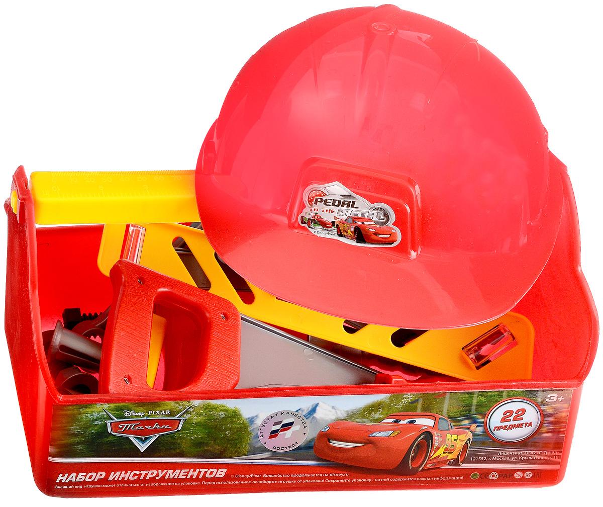 Играем вместе Набор игрушечных инструментов Тачки 22 предметаB619660-R3Набор игрушечных инструментов Играем вместе Тачки станет отличным подарком для маленького мастера. В наборе имеется все, что может пригодиться юному строителю: каска, удобный чемоданчик для инструментов, отвертка и многие другие строительные инструменты. Малыш сможет отремонтировать игрушки и устранить все неисправности в доме, помогая папе. Игровой набор нетоксичен и изготовлен из высококачественного пластика.