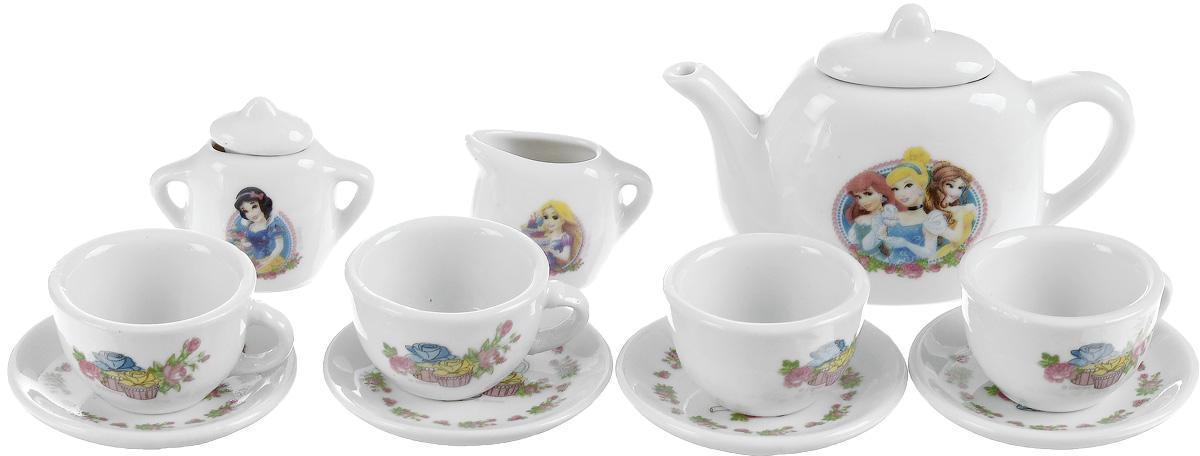 Играем вместе Игрушечный чайный набор Принцессы 11 предметов