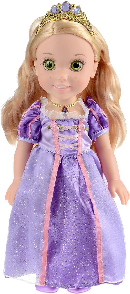 Disney Princess Кукла озвученная Рапунцель Моя маленькая принцессаRAP001Кукла Disney Princess Рапунцель. Моя маленькая принцесса олицетворяет собой главную героиню популярного мультфильма от компании Дисней в детстве. У куколки реалистичные пластиковые глаза и густые ресницы, которые делают взгляд особенно выразительным. Малышка одета в пышное платье сиреневого цвета и туфельки, а на ее красивых локонах сверкает тиара с драгоценными камнями. Ручки и ножки куколки подвижны, а волосы можно расчесывать. Нажмите на волшебный медальон на шее принцессы, чтобы услышать, как она разговаривает, рассказывает стихи или поет красивую песню. Каждая принцесса когда-то была маленькой девочкой и мечтала о чуде. Окунитесь в мир сказки вместе со своей новой подругой - очаровательной малышкой Рапунцель. Рекомендуется докупить 2 батарейки напряжением 1,5V типа AАА (товар комплектуется демонстрационными).