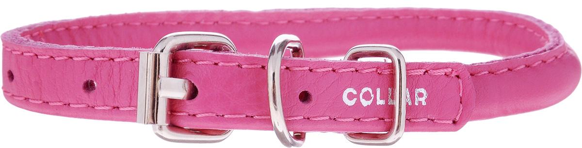 Ошейник для собак CoLLaR Glamour, цвет: розовый, диаметр 0,8 см, обхват шеи 20-25 см22407Ошейник CoLLaR Glamour изготовлен из кожи, устойчивой к влажности и перепадам температур. Клеевой слой, сверхпрочные нити, крепкие металлические элементы делают ошейник надежным и долговечным. Изделие отличается высоким качеством, удобством и универсальностью. Размер ошейника регулируется при помощи металлической пряжки. Имеется металлическое кольцо для крепления поводка. Ваша собака тоже хочет выглядеть стильно! Модный ошейник с уплотнением по всей длине не только не будет натирать шею вашему любимцу, но и станет для питомца отличным украшением и выделит его среди остальных животных. Минимальный обхват шеи: 20 см. Максимальный обхват шеи: 25 см. Диаметр: 0,8 см.