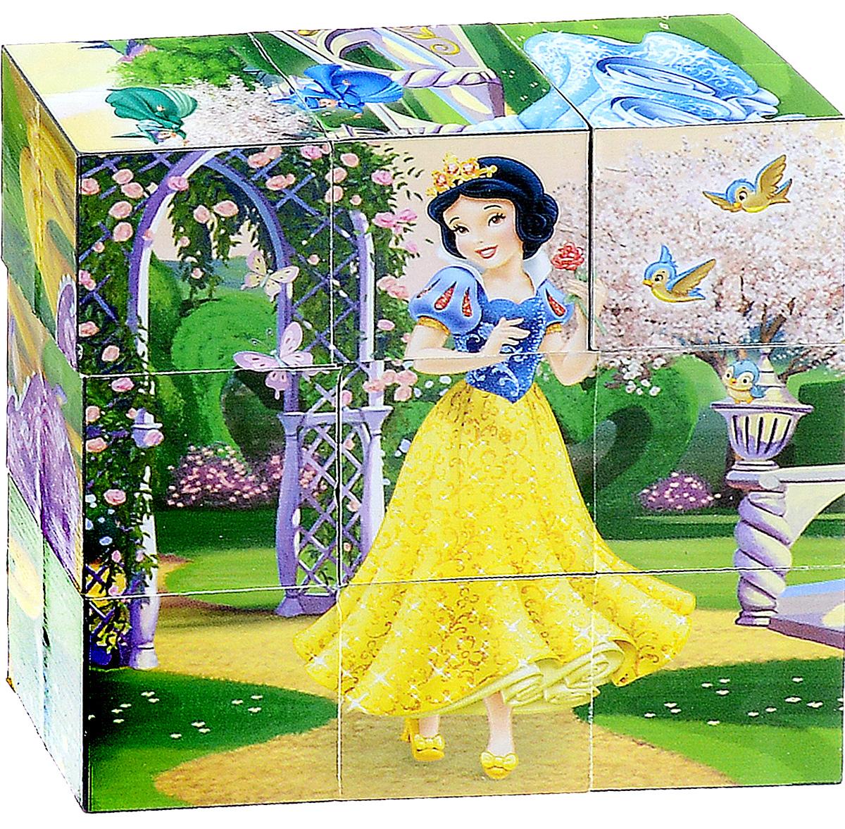 Играем вместе Кубики Disney Принцесса 0200902009С помощью девяти кубиков Играем вместе Disney Принцесса ребенок сможет собрать целых шесть красочных картинок с изображением диснеевских принцесс. Кубики - самая популярная и самая необходимая игрушка для малыша. Игра с кубиками развивает зрительное восприятие, наблюдательность и внимание, мелкую моторику рук и произвольные движения. Ребенок научится складывать целостный образ из частей, определять недостающие детали изображения. Это прекрасный комплект для развлечения и времяпрепровождения с пользой для малыша.