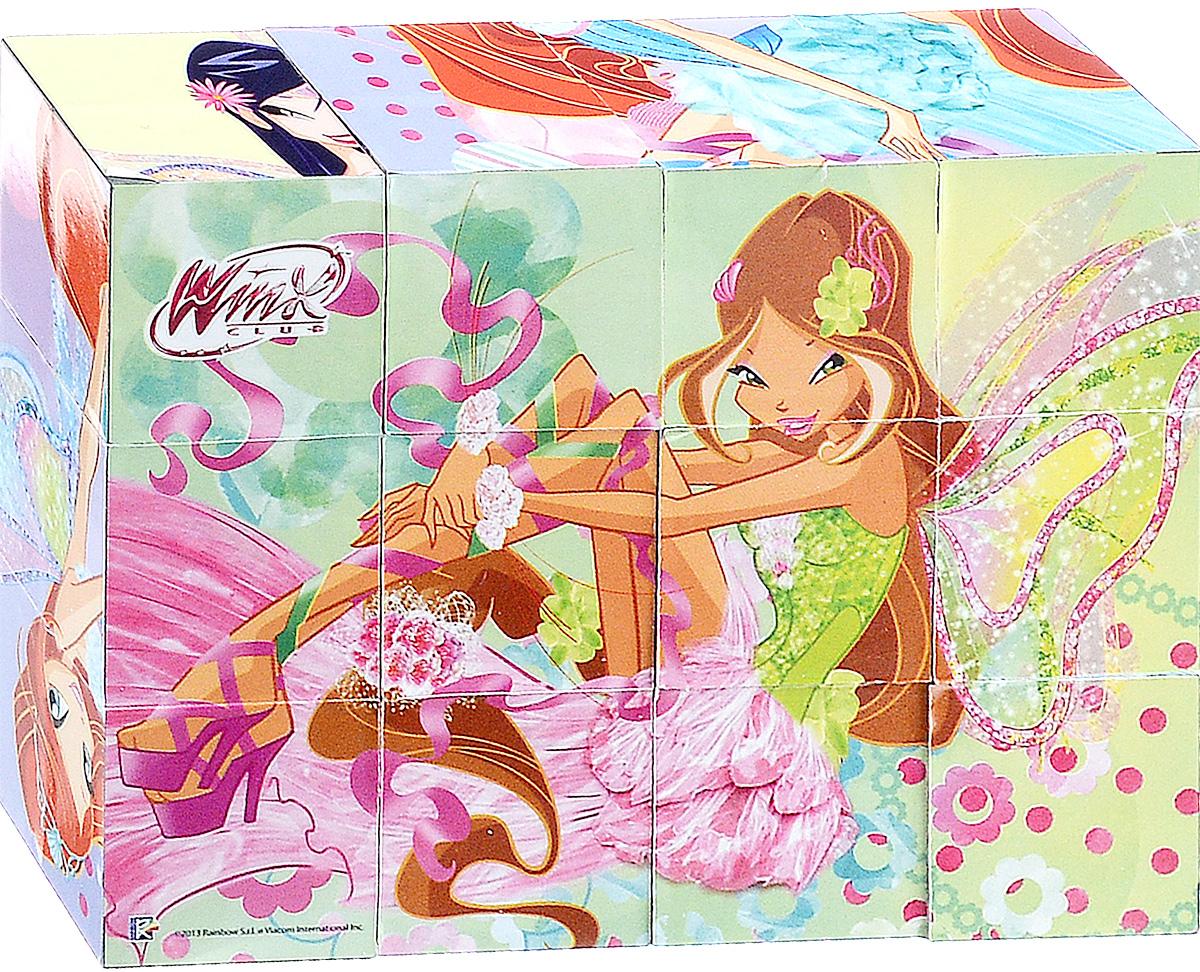 Играем вместе Кубики Winx01512С помощью двенадцати кубиков Играем вместе Winx ребенок сможет собрать целых шесть красочных картинок с изображением прекрасных фей. Кубики - самая популярная и самая необходимая игрушка для малыша. Игра с кубиками развивает зрительное восприятие, наблюдательность и внимание, мелкую моторику рук и произвольные движения. Ребенок научится складывать целостный образ из частей, определять недостающие детали изображения. Это прекрасный комплект для развлечения и времяпрепровождения с пользой для малыша.