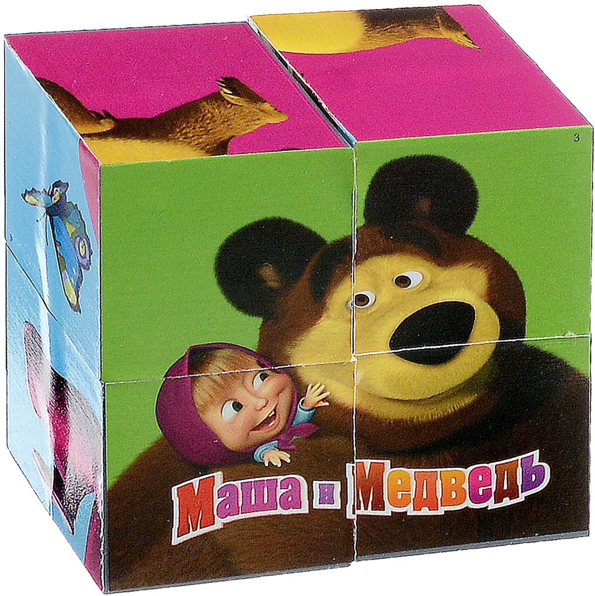 Играем вместе Кубики Маша и Медведь 0131801318С помощью четырех кубиков Играем вместе Маша и Медведь ребенок сможет собрать целых шесть красочных картинок с изображением сюжетов из любимого мультфильма. Кубики - самая популярная и самая необходимая игрушка для малыша. Игра с кубиками развивает зрительное восприятие, наблюдательность и внимание, мелкую моторику рук и произвольные движения. Ребенок научится складывать целостный образ из частей, определять недостающие детали изображения. Это прекрасный комплект для развлечения и времяпрепровождения с пользой для малыша.