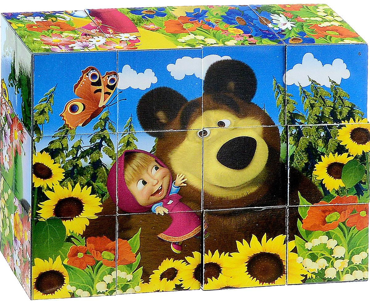 Играем вместе Кубики Маша и Медведь 0132101321С помощью двенадцати кубиков Играем вместе Маша и Медведь ребенок сможет собрать целых шесть красочных картинок с изображением сюжетов из любимого мультфильма. Кубики - самая популярная и самая необходимая игрушка для малыша. Игра с кубиками развивает зрительное восприятие, наблюдательность и внимание, мелкую моторику рук и произвольные движения. Ребенок научится складывать целостный образ из частей, определять недостающие детали изображения. Это прекрасный комплект для развлечения и времяпрепровождения с пользой для малыша.