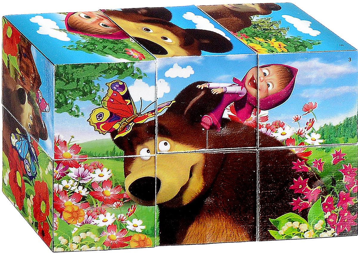 Играем вместе Кубики Маша и Медведь 0131701317С помощью шести кубиков Играем вместе Маша и Медведь ребенок сможет собрать целых шесть красочных картинок с изображением сюжетов из любимого мультфильма. Кубики - самая популярная и самая необходимая игрушка для малыша. Игра с кубиками развивает зрительное восприятие, наблюдательность и внимание, мелкую моторику рук и произвольные движения. Ребенок научится складывать целостный образ из частей, определять недостающие детали изображения. Это прекрасный комплект для развлечения и времяпрепровождения с пользой для малыша.