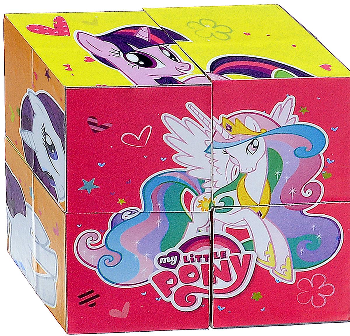 Играем вместе Кубики My Little Pony 0110401104С помощью четырех кубиков Играем вместе My Little Pony ребенок сможет собрать целых шесть красочных картинок с изображением сюжетов из любимого мультфильма. Кубики - самая популярная и самая необходимая игрушка для малыша. Игра с кубиками развивает зрительное восприятие, наблюдательность и внимание, мелкую моторику рук и произвольные движения. Ребенок научится складывать целостный образ из частей, определять недостающие детали изображения. Это прекрасный комплект для развлечения и времяпрепровождения с пользой для малыша.