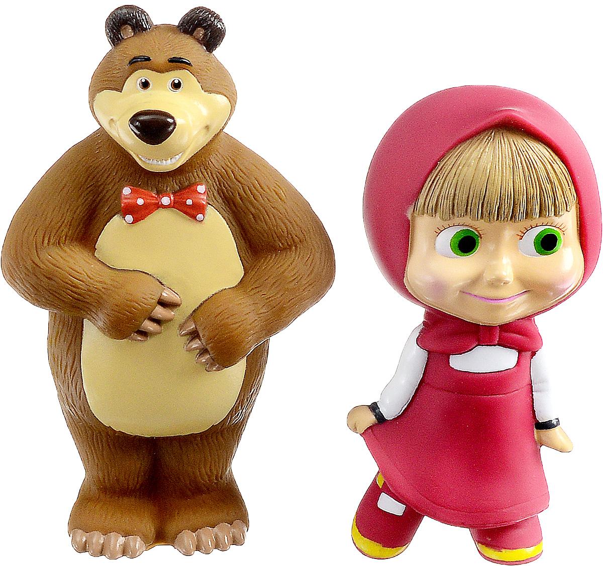 Играем вместе Набор игрушек для ванной Маша и Медведь117R-PVCНабор игрушек для ванной Играем вместе Маша и Медведь превратит купание вашего малыша в интересную и веселую игру. Игрушки выполнены с большой аккуратностью, тщательностью, ярко окрашены и полностью повторяют внешность героев известного мультфильма. Изготовлены из безопасных материалов. С таким набором вместе с вашим ребенком вы сможете придумать бессчетное количество веселых игр и историй. При сжатии игрушки забавно пищат.
