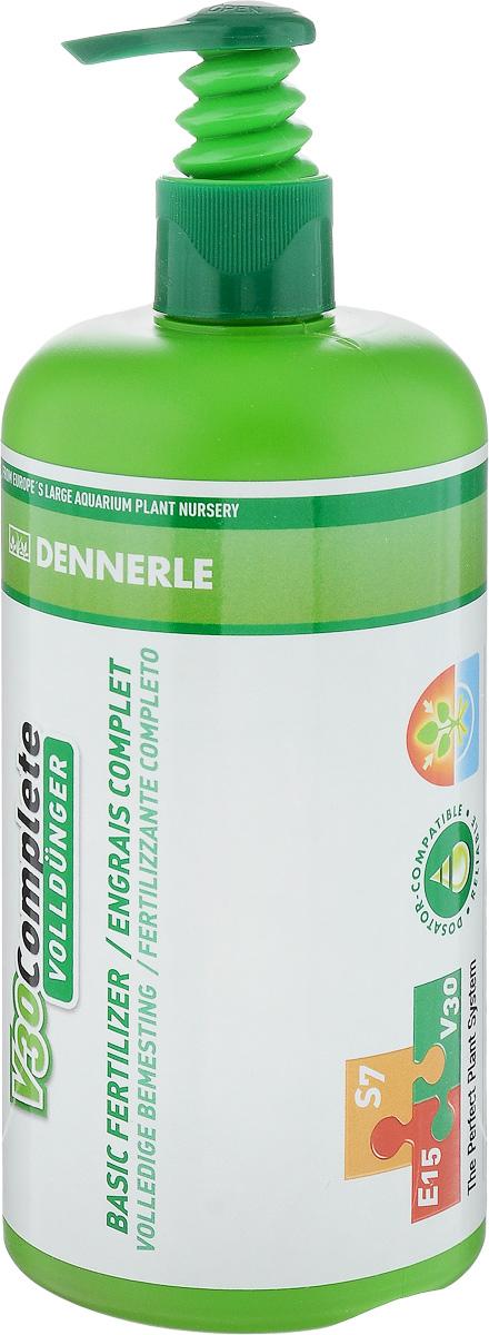 Удобрение для аквариумных растений Dennerle V30 Complete, 500 млDEN4460Удобрение для аквариумных растений Dennerle V30 Complete содержит все важные питательные вещества и ценные микроэлементы. Активные питательные вещества удобрения действуют мгновенно. Удобрение препятствует появлению желтых полупрозрачных листьев, способствуя образованию яркой зеленой листвы. Все питательные вещества защищены хелатами и доступны растениям длительное время. Не содержит фосфаты и нитраты. Дозировка: раз в 2 недели по 3 мл на 100 л аквариумной воды. При использовании в системе Dennerle Perfect Plant (V30 + E15 + S7) - 3 мл на 100 л аквариумной воды раз в 4 недели. Товар сертифицирован.