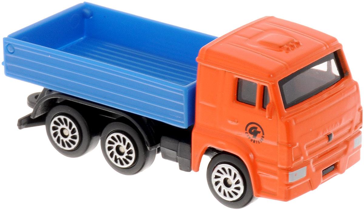ТехноПарк Машинка КамАЗCT12-439-BLC_оранжевыйМашинка ТехноПарк КамАЗ станет отличным подарком для мальчика. Машинка выполнена из металла с пластиковыми элементами, колеса машинки свободно вращаются. Малыш будет часами играть с этой замечательной игрушкой, придумывая разные истории. Сделайте вашему ребенку такой великолепный подарок!