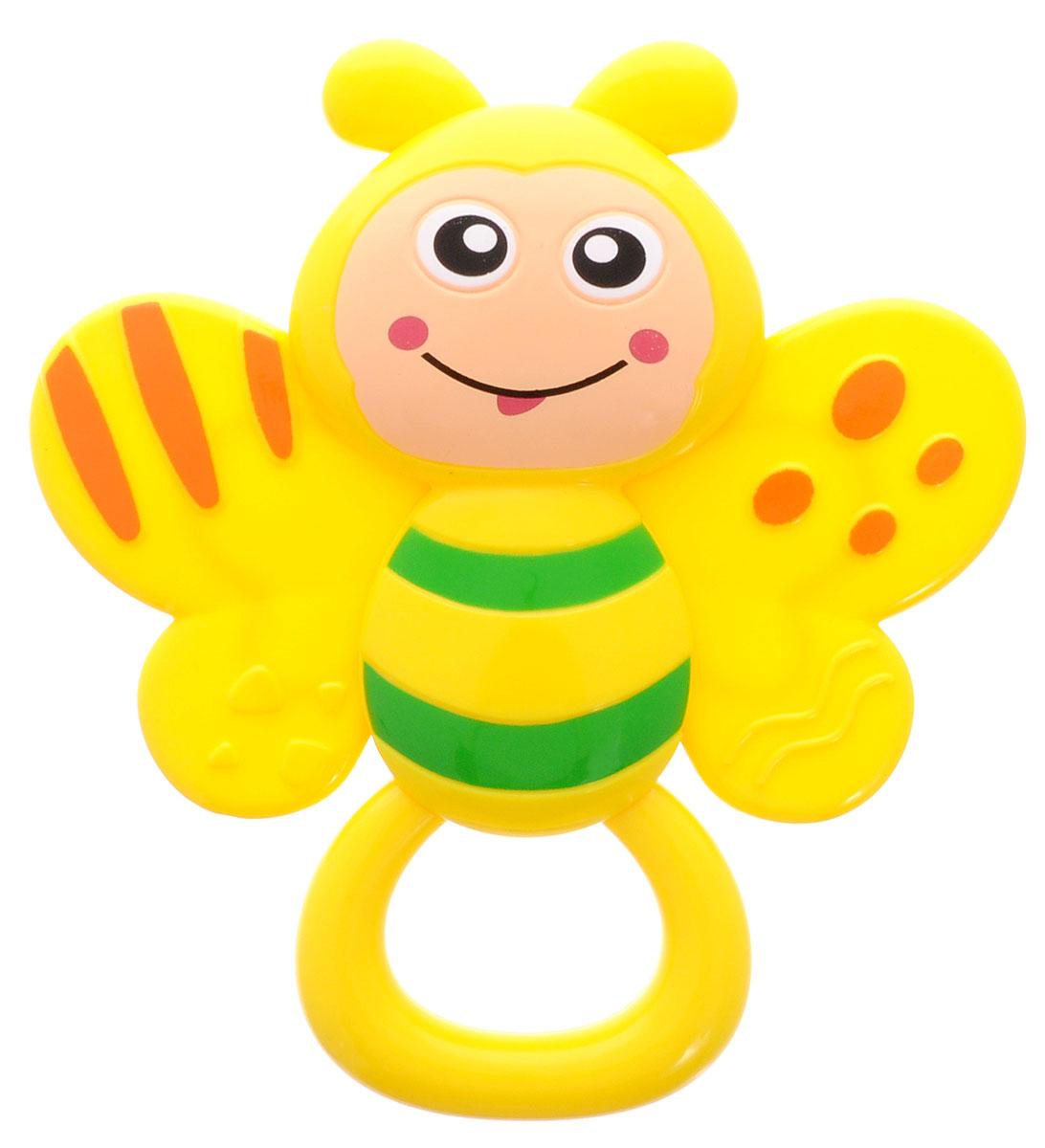 Умка Погремушка Бабочка цвет желтыйB1465647-RЗамечательная игрушка-погремушка Умка Бабочка вызовет улыбку и положительные эмоции у вашего малыша. Погремушка сочетает в себе яркие элементы с различными функциональными возможностями. Кольцо погремушки очень удобно для захвата маленькими детскими пальчиками, поэтому при помощи этой игрушки малыша будет легко научить удерживать предметы. В игровой форме малыш ознакомится с такими понятиями, как звук, цвет и форма предмета. Благодаря данной игрушке ребенок будет развивать мелкую моторику и воображение.